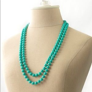 Stella and Dot teal bead necklace